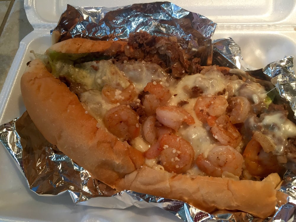 Shrimp cheesesteak