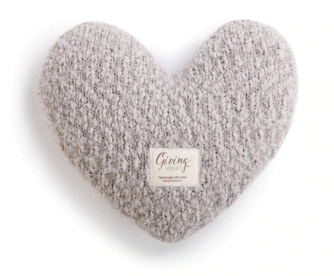 Giving Heart Pillow - Taupe