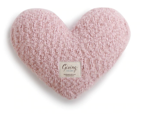 Giving Heart Pillow - Pink