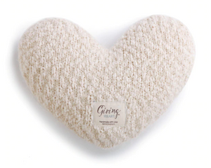 Giving Heart Pillow - Cream