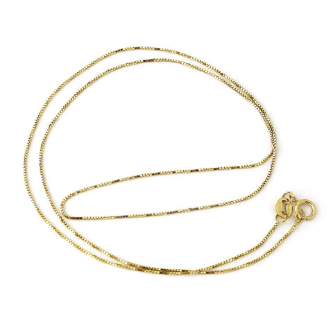 10k Yellow Gold 0.60mm Box Chain Necklace, 16""