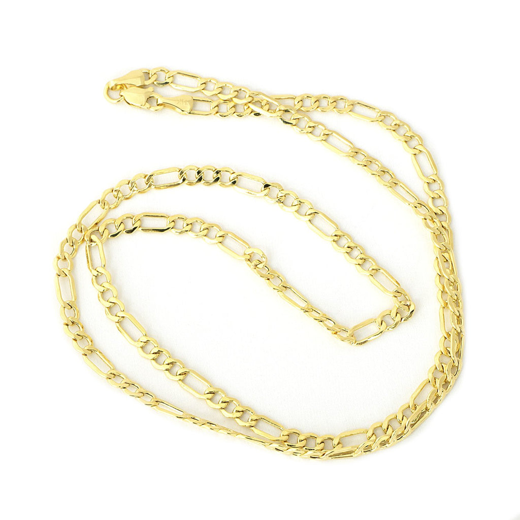 Men's 10k Yellow Gold Lightweight Figaro Chain Necklace