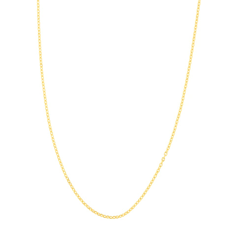 14k Yellow, White or Rose Gold 0.9 Millimeter Adjustable Cable Chain Lobster Clasp, Up to 22 Inches
