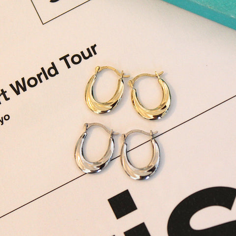 10k Yellow Gold Twisted Small Hoop Earrings