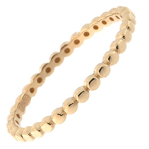 14k Yellow, White or Rose Gold Thin Dotted Stacking Ring
