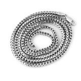 Men's Solid Sterling Silver Rhodium Plated 2.5mm Comfort Franco Chain Necklace, 18""