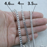 Men's Solid 925 Sterling Silver Rhodium Plated 4.6mm Franco Chain - 30""