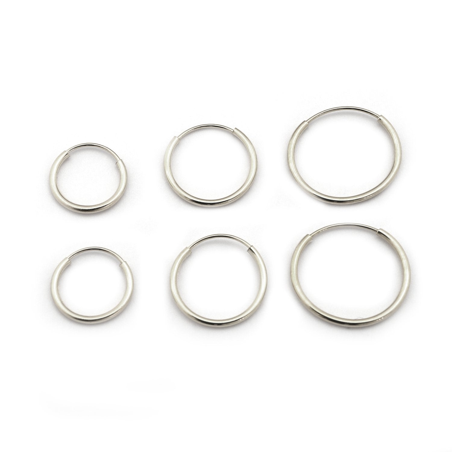 14k Yellow Or White Gold 10mm 12mm And 14mm Endless Hoop Earrings