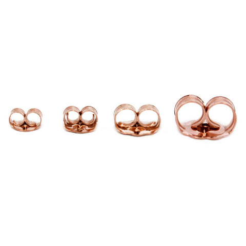 14k Rose Gold Push Earring Backings - Large