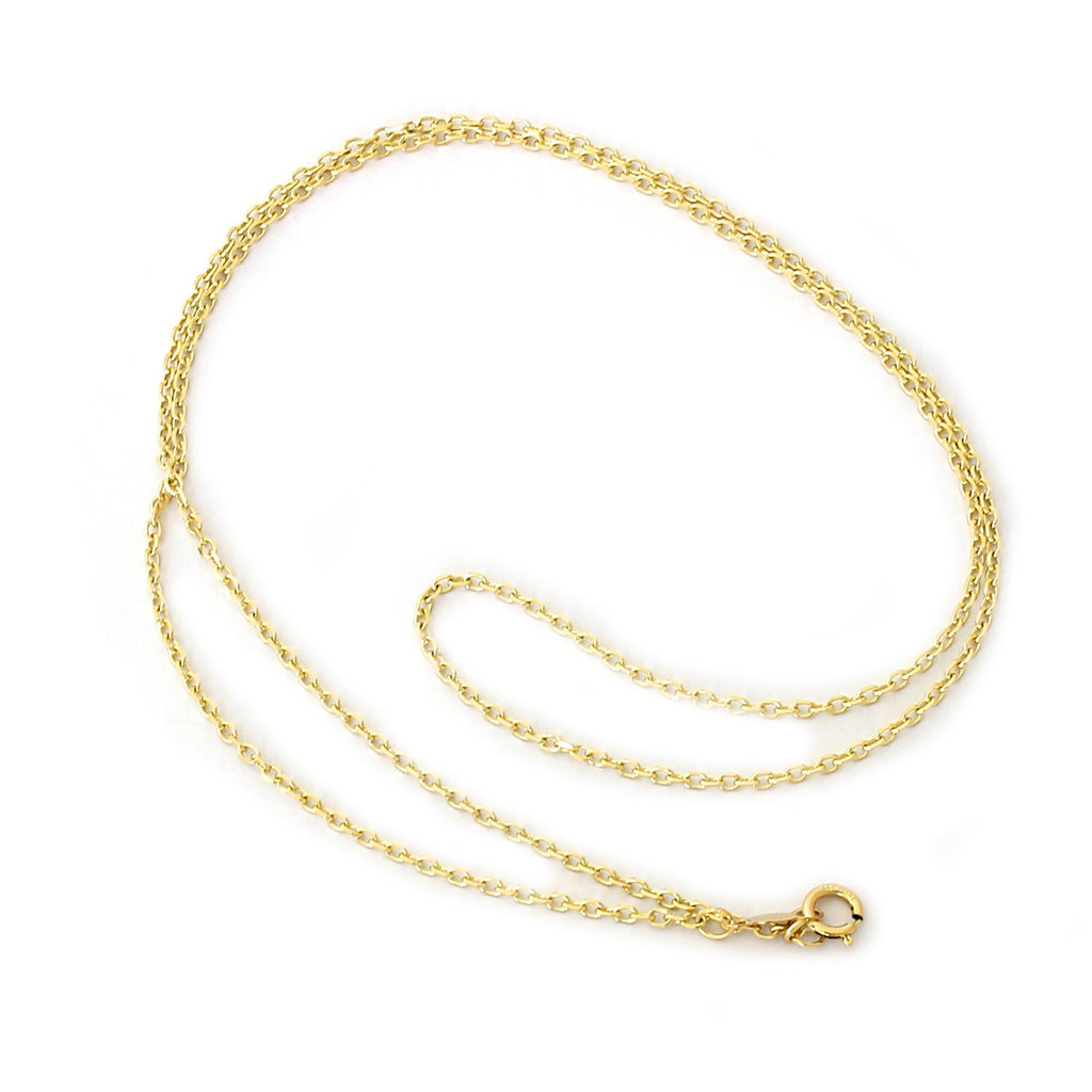 "14k Yellow, White or Rose Gold 1.4mm Diamond-Cut Cable Chain Necklace, 13"" 15"" 16"" 18"" 20"" 22"""