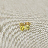 14k Yellow Gold 3mm .25tcw Round Simulated Citrine Earrings