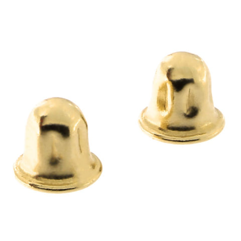 14k Yellow or White Gold Child Safe Screwback Earring Backing Replacements