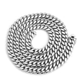 Men's Solid Sterling Silver Rhodium Plated 14mm Miami Cuban Chain Necklace, 32""