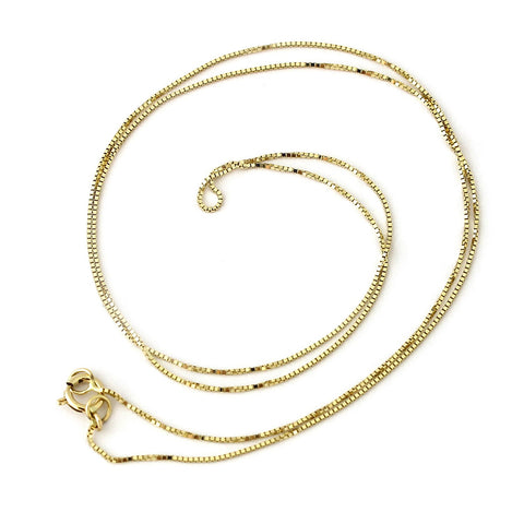 14k Yellow Gold 0.45mm Box Chain Necklace, 16""