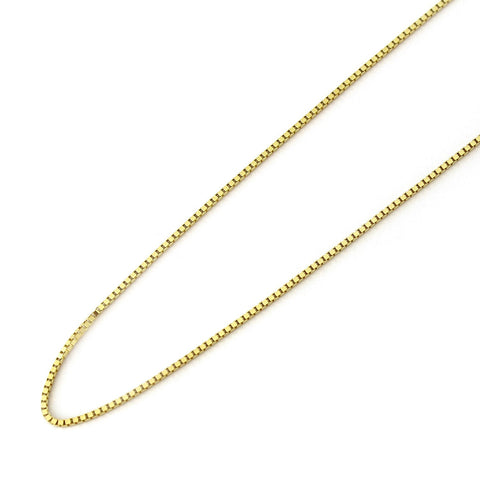 14k Yellow Gold 0.70mm Box Chain Necklace, 16""