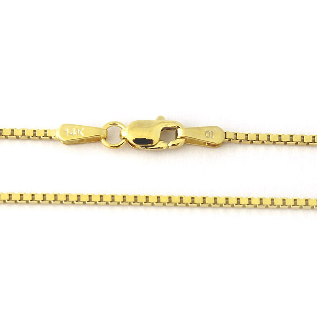 14k Yellow Gold 1.6mm Box Chain Necklace, 18""