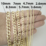 Men's Solid 14k Yellow Gold Comfort Cuban Curb 3.6mm Chain Necklace, 18""