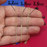 "Beauniq 14k Solid Yellow Gold 1.2mm Figaro Chain 10"" Anklet"