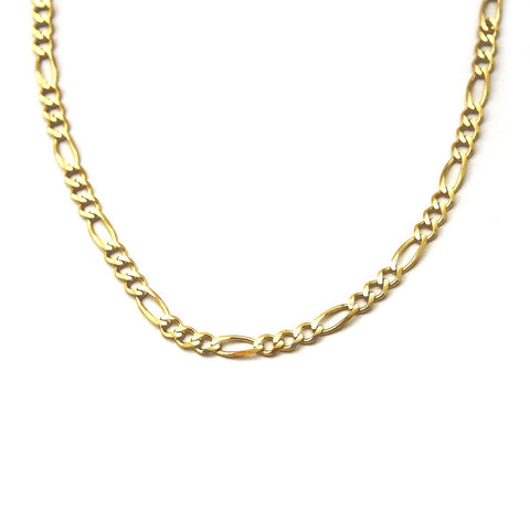 Men's Solid 14k Yellow Gold 4.7mm Figaro Chain Necklace, 20""