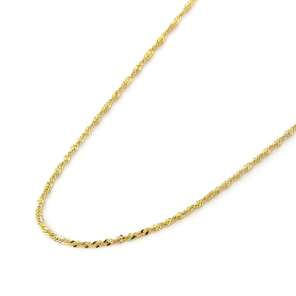 SINGAPORE CHAIN 18 INCHES LONG 14KT GOLD SPARKLE SINGAPORE CHAIN WITH LOBSTER LOCK