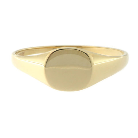 Beauniq 14k Yellow Gold Small Signet Ring, Size 5
