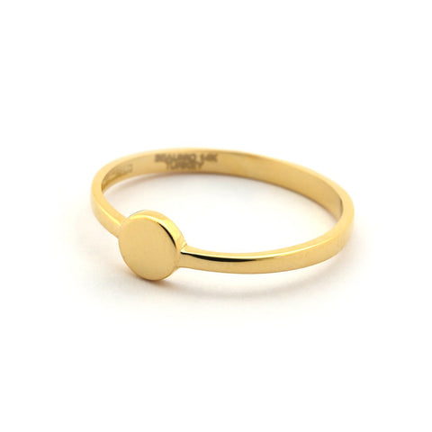 Beauniq 14k Yellow Gold Small Circle Ring - Size 5