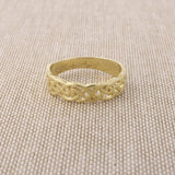 14k Yellow Gold Celtic Knot Band Ring, Size 5