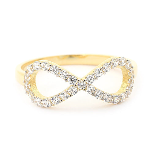 Beauniq 14k Yellow Gold Cubic Zirconia Infinity Ring - Size 5