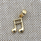 14k Yellow Gold Small Music Note Pendant Necklace - pendant only