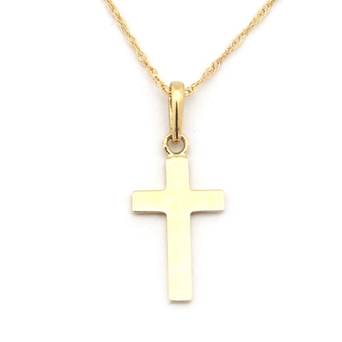 Beauniq 14k Yellow Gold Polished Cross Pendant Necklace - Pendant only