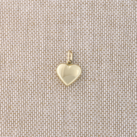 Beauniq 14k Yellow Gold Heart Pendant