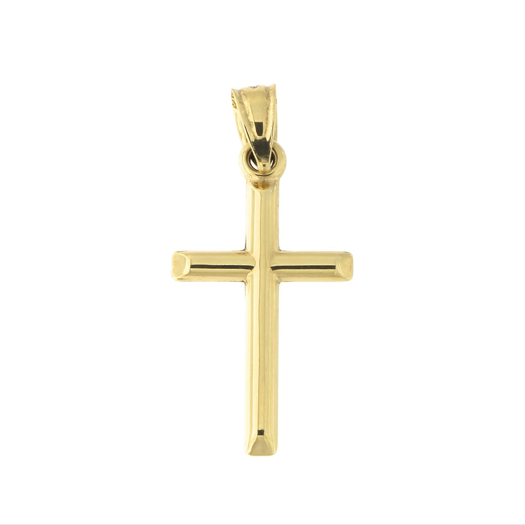 10k Yellow Gold or White Gold Cross Pendant Necklace