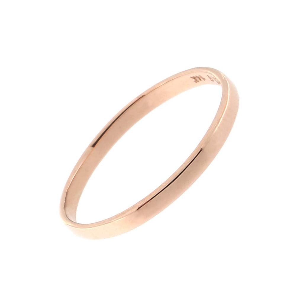 Solid 14k White or Rose Gold Polished Band Mid Finger Midi Ring, Size 3