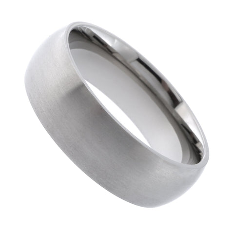 Beauniq Men's Matte Finish Titanium 7mm Band Comfort Fit Ring, Size 10