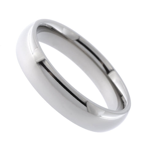 Beauniq Unisex High Polished Titanium 5mm Band Comfort Fit Ring, Size 10