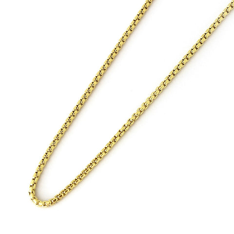 14k Yellow Gold 2.4mm Round Box Chain Necklace, 16""