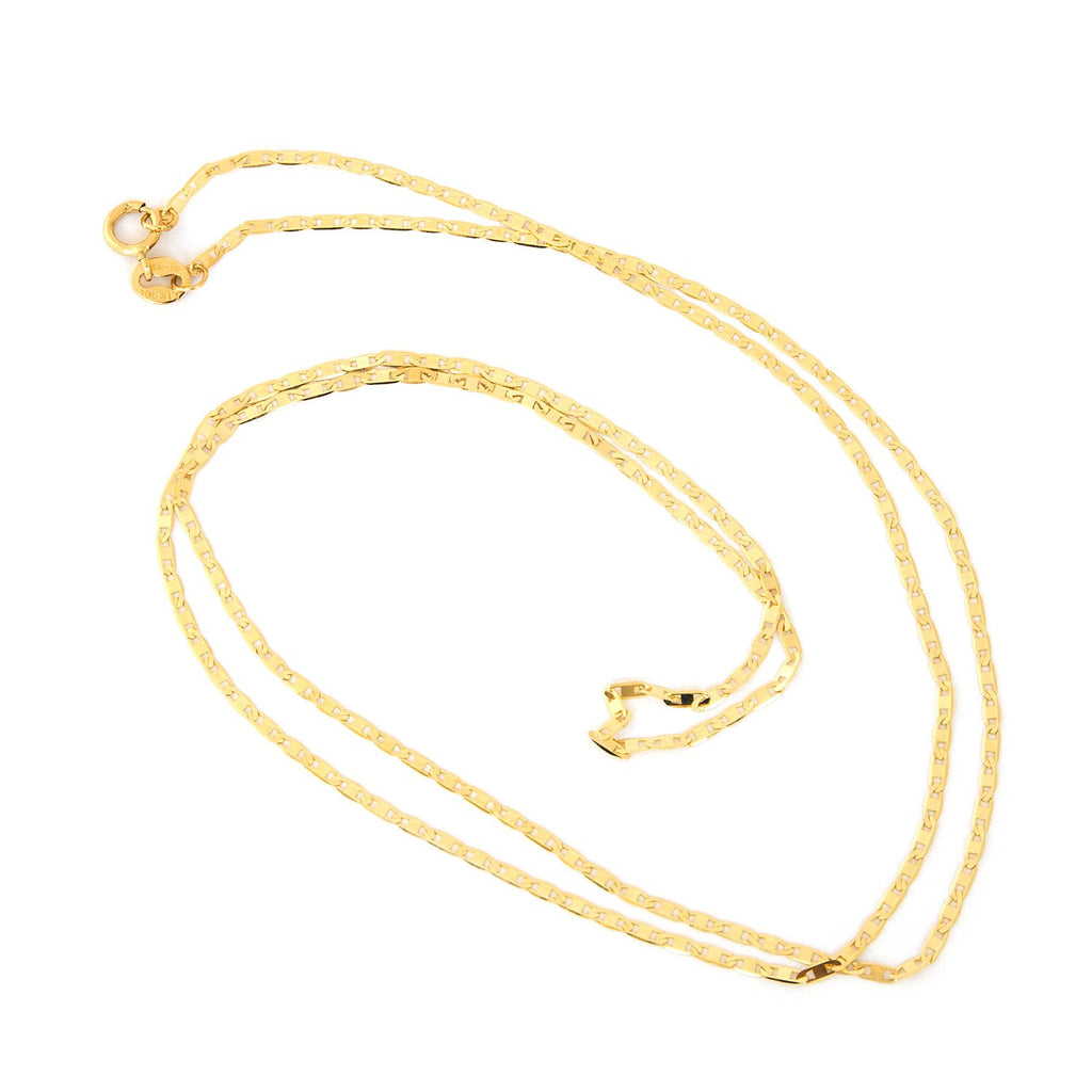 10k Yellow Gold Mariner Chain Necklace