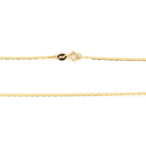 10k Yellow Gold 1.2mm Mariner Chain Bracelet, 7""