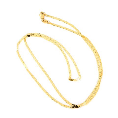 Beauniq 10k Yellow Gold 1.7mm Mariner Chain Necklace, 16""