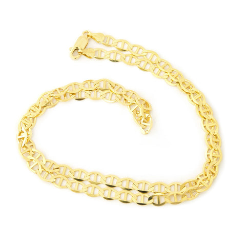 10k Yellow Gold 5.0mm Mariner Chain Necklace, 18""