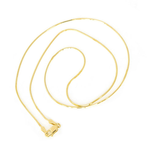Beauniq 10k Yellow Gold 0.9mm Octagonal Snake Chain Necklace, 16""