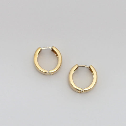 10k Yellow Gold Huggie Hoop Earrings