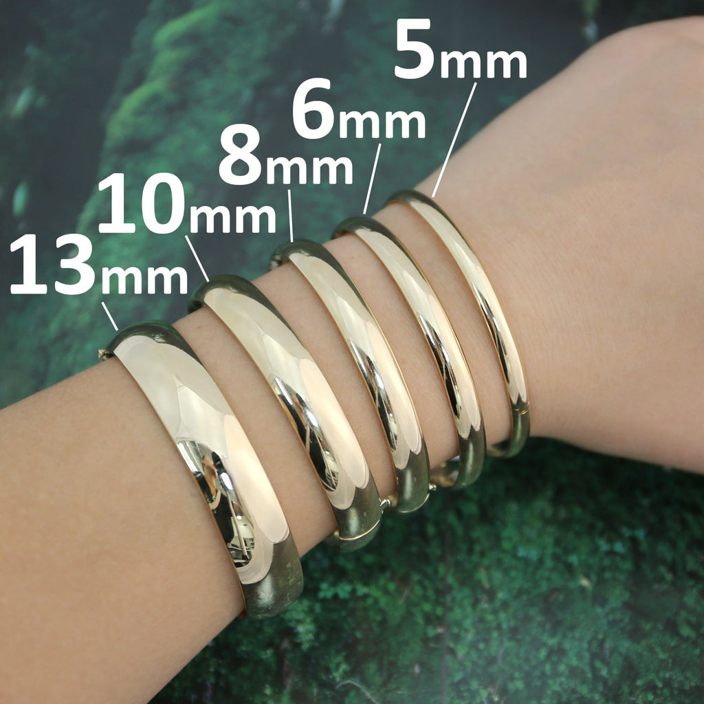 lot g bracelets karat gold component diameter bangles finding steel size stainless bangle products charm bracelet heart