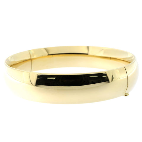 14k Yellow Gold 13mm Polished Bangle Bracelet, 7""