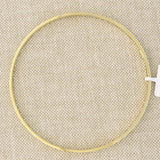 14k Yellow Gold 3mm Matte Bezel Bangle Bracelet, 8""