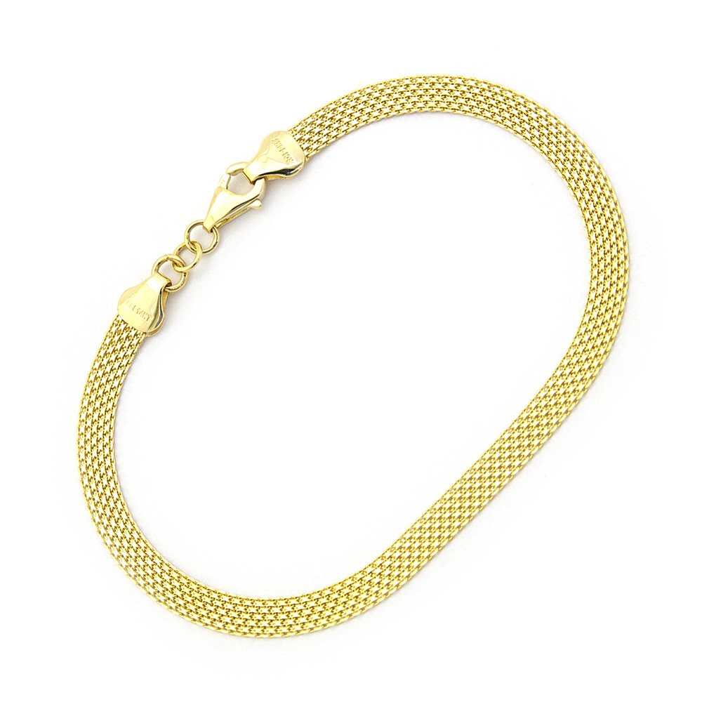14k Yellow Gold 4.3mm Bismark Chain Bracelet, 7.25""