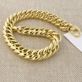 14k Yellow Gold Lightweight Close Linked Puffed Cuban Curb Bracelet, 7.5""