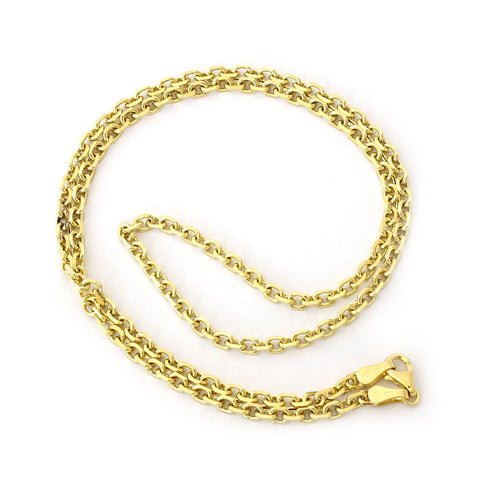 Beauniq Solid 14k Yellow Gold 4.0mm Cable Link Chain Necklace, 18""
