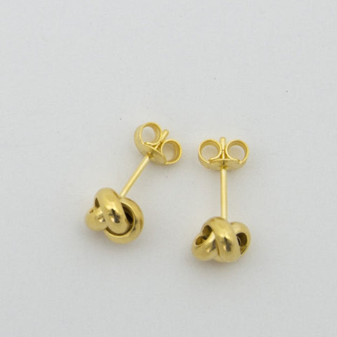 14k Yellow Gold Love Knot Earrings
