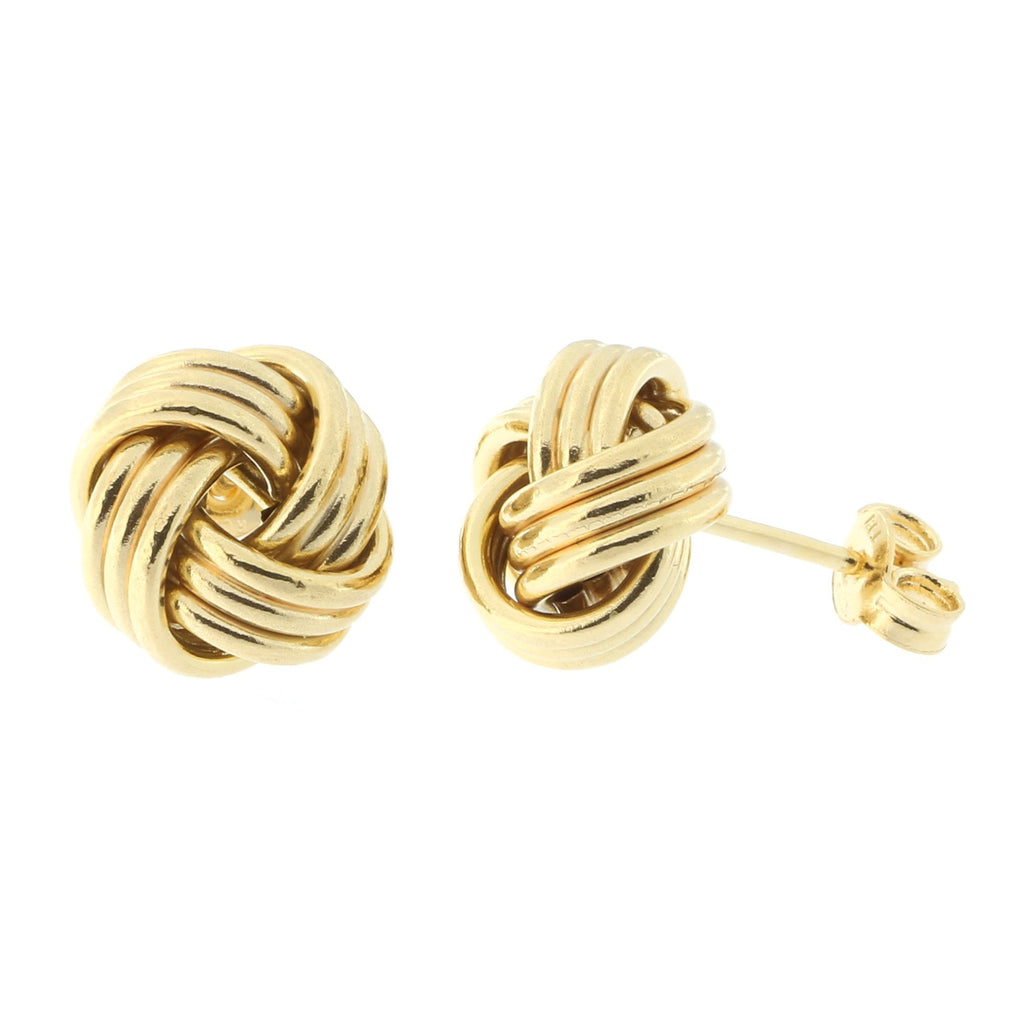 14k Yellow, White or Rose Gold 11mm Love Knot Stud Earrings